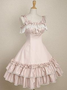 This is a great example of a Lolita dress that can be worn by even the most casual Lolita dressers.