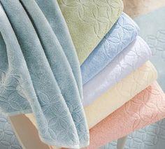 Cuddledown Luxurious Meridian Turkish Cotton Towel Set & Bath Tub Mat -7 Pieces