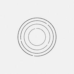 en circle minimal -