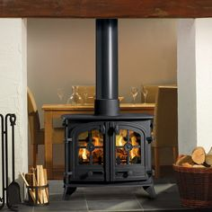 Yeoman Exe Double Sided Woodburning Stove - Stoves Are Us