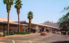 LAKEWOOD:  Lakewood Shopping Center, Lakewood, CA 1950s.  Opened in 1952, was one of the first shopping centers in the U.S.