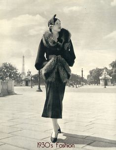 1930's Fashion is as classy and current today as it was then.  I even love the fur.  Sorry ASPCA.