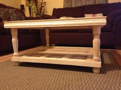 coffee table created from a door