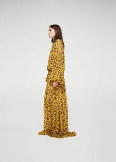 Dlouhé šaty s květy | MANGO