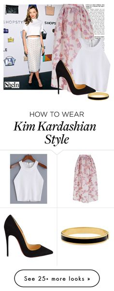 """Miranda"" by a-z07 on Polyvore featuring Kerr®, The 2nd Skin Co., Christian Louboutin and Halcyon Days"