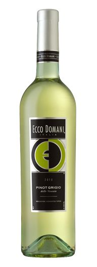 Ecco Domani Pinot Grigio.  I didn't think I liked Pinot Grigio until I had this, chilled.  So refreshing.