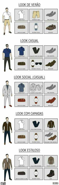5 Ways to Wear a Polo maneiras de usar uma Camisa Polo Check out five ways to wear a polo shirt for different occasions and styles. Mode Man, Style Masculin, Herren Style, Le Polo, Camisa Polo, Trendy Fashion, Fashion Tips, Trendy Style, Fashion 2016
