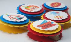 Circus Treat Bag Toppers