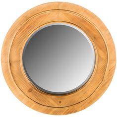Round Galvanized Metal Wall Mirror  Hobby Lobby  1465079