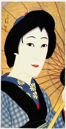 Natori Shunsen (1886-1960)   Onoe Baiko as Otomi  by Natori Shunsen, 1917