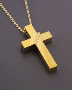 Σταυρός χρυσός Κ18 | eleftheriouonline.gr Egg Muffin Cups, Gold Chains For Men, Jewelry, Chains, Faith, Dios, Necklaces, Hipster Stuff, Crosses