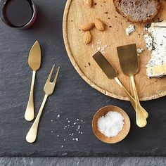 Gold Cheese Knives Set #westelm