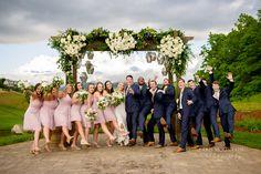 The Waterfall Club - Paris Mountain Photography - Blush - White Roses Wedding Group Photos, Mountain Photography, Bridesmaid Dresses, Wedding Dresses, White Roses, Family Photos, Waterfall, Blush, Paris