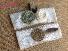YOU CHOOSE colors Rustic bridal garter set / by SouthernEverAfter, $26.99