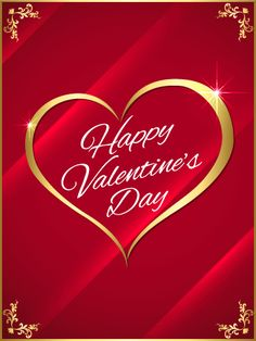 326 best valentines day images on pinterest in 2018 happy send free golden heart happy valentines day card to loved ones on birthday greeting cards by davia m4hsunfo