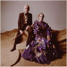 Painter Carel Willink and his muze, wife Mathilde. Amsterdam 70's