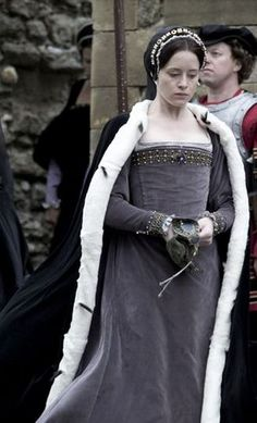 Claire Foy stars as Anne Boleyn in Masterpiece, 'Wolf Hall'. Seductive, powerful - the perfect foil for Thomas Cromwell in this superbly acted, authentic & atmospheric series.