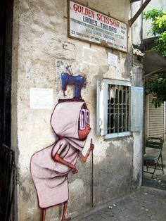 Art on the walls of Bandra, Mumbai - Seth Globepainter