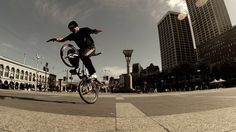 A recent Friday, 3:16 p.m.: With the clock tower above the Ferry Building looming overhead, Pete Brandt twisted his custom BMX bike in circles in the open area at the end of Market Street. Now and then he flipped effortlessly over the handlebars, to the awe of pedestrians weaving between the vintage streetcars.