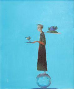 nothingbut-bluesky: Ștefan Câlția - Călătorul cu flori și... Paper People, Retelling, Surrealism, Disney Characters, Fictional Characters, Collage, Pure Products, Sculpture, Texture