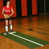 Jennie Finch Pitching Mat with Power Line - http://www.learnpitching.com/how-to-pitch-pitching-baseball-learn-to-pitch-pitching-basicus/arm-strength/jennie-finch-pitching-mat-with-power-line/