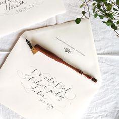 Lamplighter London - Modern Calligraphy - Invitations for Hermès