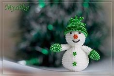 Снеговик василий из бисера - Лучшие изделия из бисера только здесь.