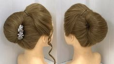Hi Beautiful Girls ! Here I am with Trick to do Bun Juda Hairstyle Updo in just one minute. You need a cluther and some Open Hairstyles, Wedding Bun Hairstyles, Easy Hairstyles For Medium Hair, Bun Hairstyles For Long Hair, Cute Girls Hairstyles, Black Hairstyles, Hair Up Styles, Medium Hair Styles, Hair Medium
