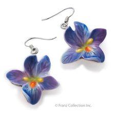 Free Inter Shipping FJ00032 Franz Porcelain Spring Violet Pierce Earrings Set | eBay