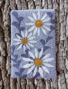 Pre-Printed Pattern Only Punch Needle - Daisy May - BS 109 - Hook Punch, Weavers Cloth, Rug Hooking Designs, Punch Needle Patterns, Latch Hook Rugs, Hand Hooked Rugs, Penny Rugs, Digital Pattern, Embroidery Patterns