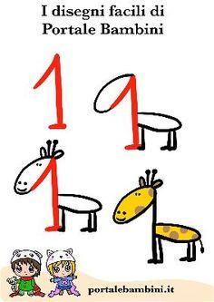 Easy Doodles Drawings, Cute Easy Drawings, Art Drawings For Kids, Simple Doodles, Cute Doodles, Drawing For Kids, Cartoon Drawings, Animal Drawings, Toddler Crafts