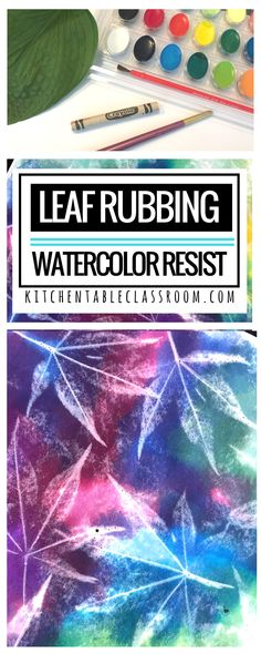 This one day art lesson is a new twist on an old favorite- leaf rubbing. Take advantage of nature's artistry. All you need are leaves, crayons, and watercolor paints. Focus on texture, shape, or color with this versatile elementary art lesson.