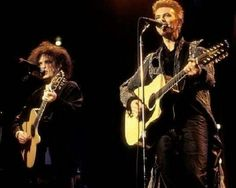 Robert Smith and David Bowie. Classic gem right here!