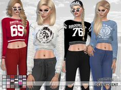Sims 4 CC's - The Best: Department Sweatshirt Collection by Pinkzombiecupc...