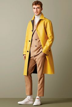 Bally Fall/Winter 2015 // this yellow jacket is cool. also this line was inspired by the Royal Tenenbaums