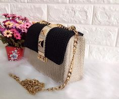 Elegant handmade crochet bag gift for her 2017 trend