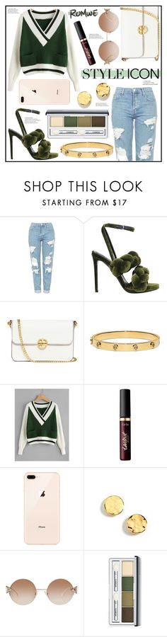 """Style Icon"" by piloariass ❤ liked on Polyvore featuring Topshop, Marco de Vincenzo, Tory Burch, tarte, Kenneth Cole, Fendi and Clinique"