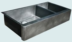 all one piece sink counter drainboard in seamless zinc countertops zinc countertops on kitchen zinc id=32752