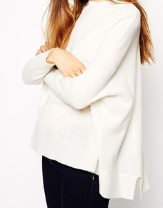 Enlarge ASOS TALL Cutabout Jumper In Wool