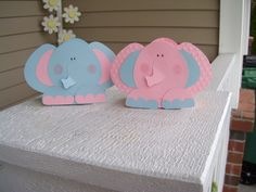 Elephant Favor Boxes in Pink and Blue Set of 12. $14.40, via Etsy.
