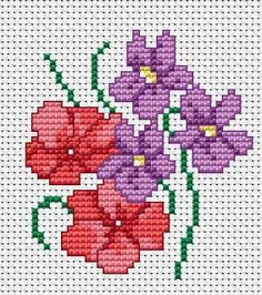 Free Cross Stitch Patterns by AlitaDesigns: Springs Flowers