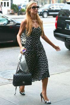 Paris Hilton in New York. #poshpoint #parishilton #NYC #streetstyle #chanel #louboutin #fashion