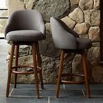 kitchen bar stools target | Bar + Counter Stool - Iron | west elm - saddle bar stool, wooden bar ...