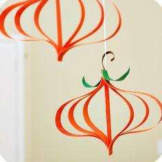 Fall Crafts ,herfstknutsel , paper, van papieren stroken