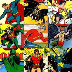 A.R.C.H.I.V.E., more-like-a-justice-league: GOLDEN AGE...Justice Society--plus later member Robin