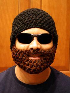 Black Bearded Beanie w/ Detachable BeardChoose your by HolyNoggins, $35.00