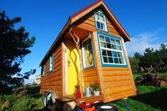 Tiny house living -- Little Yellow Door House