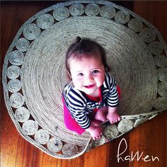 You to can DIY coiled jute rug, you will be so proud of your underfoot friend you will walk around it just to keep it clean and new.
