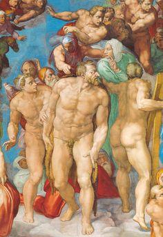 Sixtinische Kapelle, Michelangelo, Jüngstes Gericht, die Seligen (Last Judgment, the blessed ones) by HEN-Magonza, via Flickr