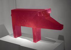 "Ivana Sramkova Luxury Pig, 2015 15.75 x 27.5 x 8"" Cast glass Available"